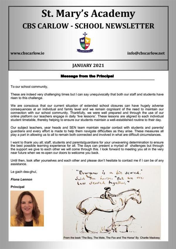School Newsletter - January 2021